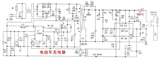 WHPTC在充电机充电器电路保护中的应用解决方案 一.充电机及充电器的基本介绍 1、充电机及充电器的功能和用途: 充电机是将高压交流电或高压直流电转变低压直流电对各种化学电池、蓄电池充电的设备。完 成的功能就是在不同时间输出大小不同的直流电流及脉冲电流让蓄电池将电能转化为化学能储存起来。 2、对充电机和充电器的相关说明: 充电机和充电器在工作原理、功能应用上没有明确的区别,其结果就是对蓄电池充电,只是叫法不同,有便携的或叫移动充电器、有固定的或叫充电机、充电桩、手机充电的一般叫充电器。 3、充电机及充电器