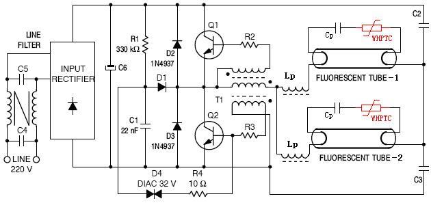 三端镇流器和二端触发器接线图